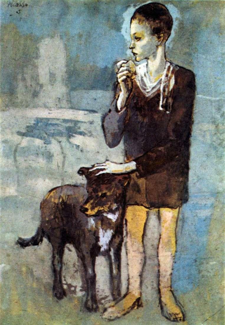 Chłopiec z psem   Pablo Picasso