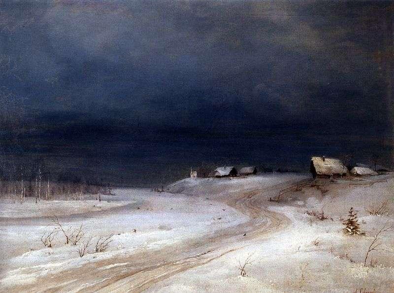 Zimowy krajobraz   Aleksiej Sawrasow