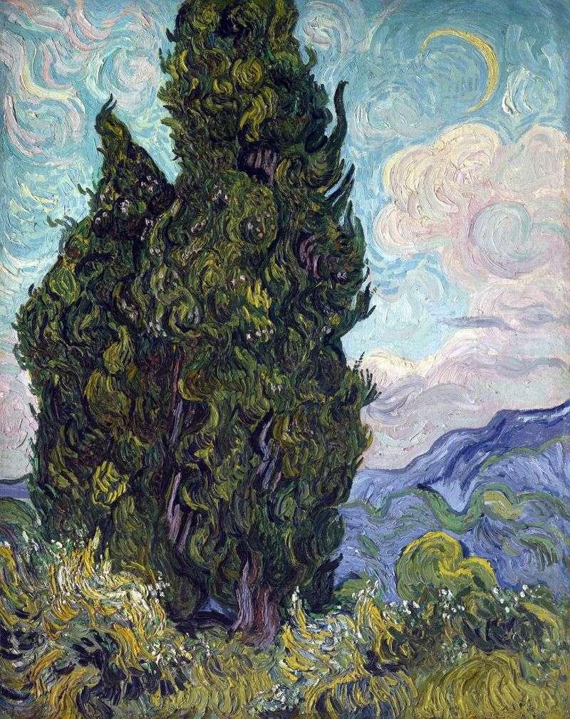 Cypress Trees   Vincent Van Gogh