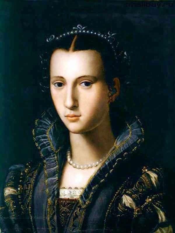 Portret florencka dama   Alessandro Allori