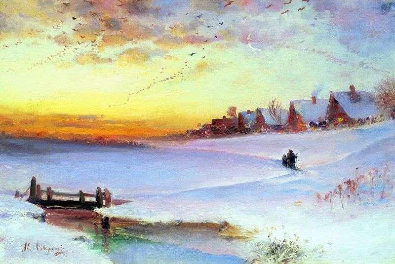 Zimowy krajobraz (odwilż)   Aleksiej Sawrasow