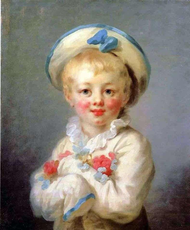 Chłopiec jako pierrot   Jean Honore Fragonard