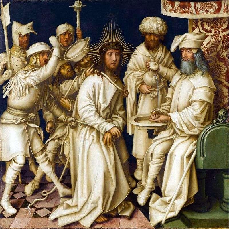 Chrystus przed Piłatem   Hans Holbein