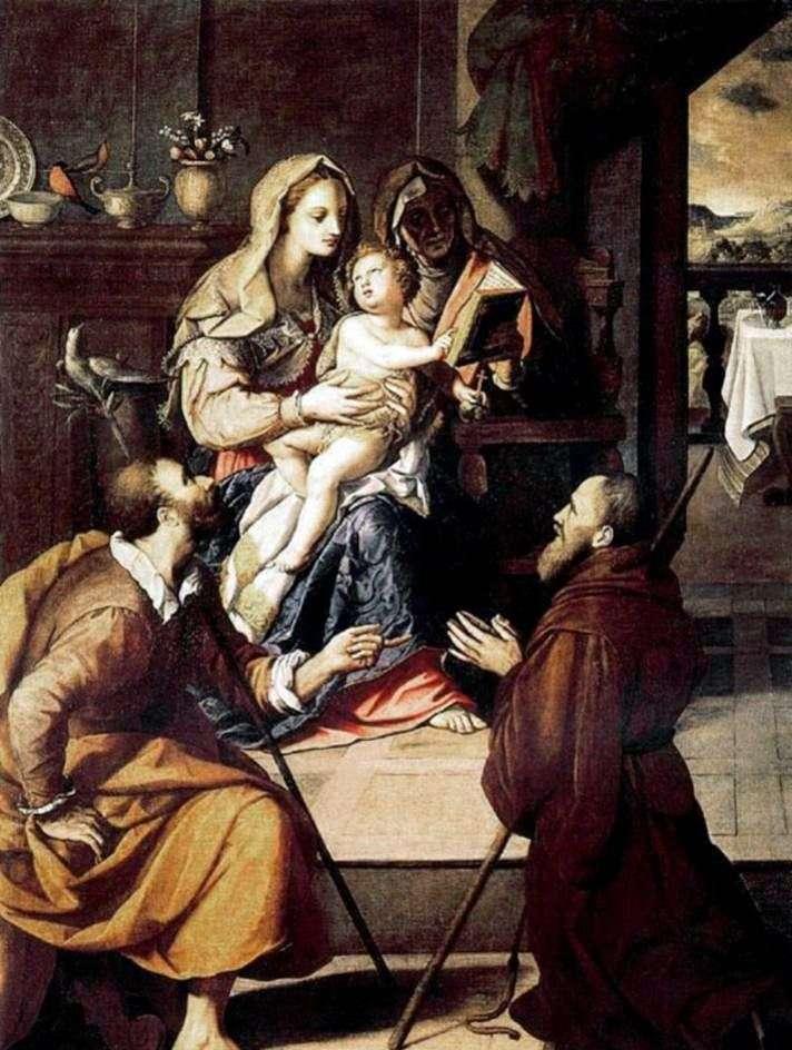 Święta rodzina i kardynałowie Medici   Alessandro Allori
