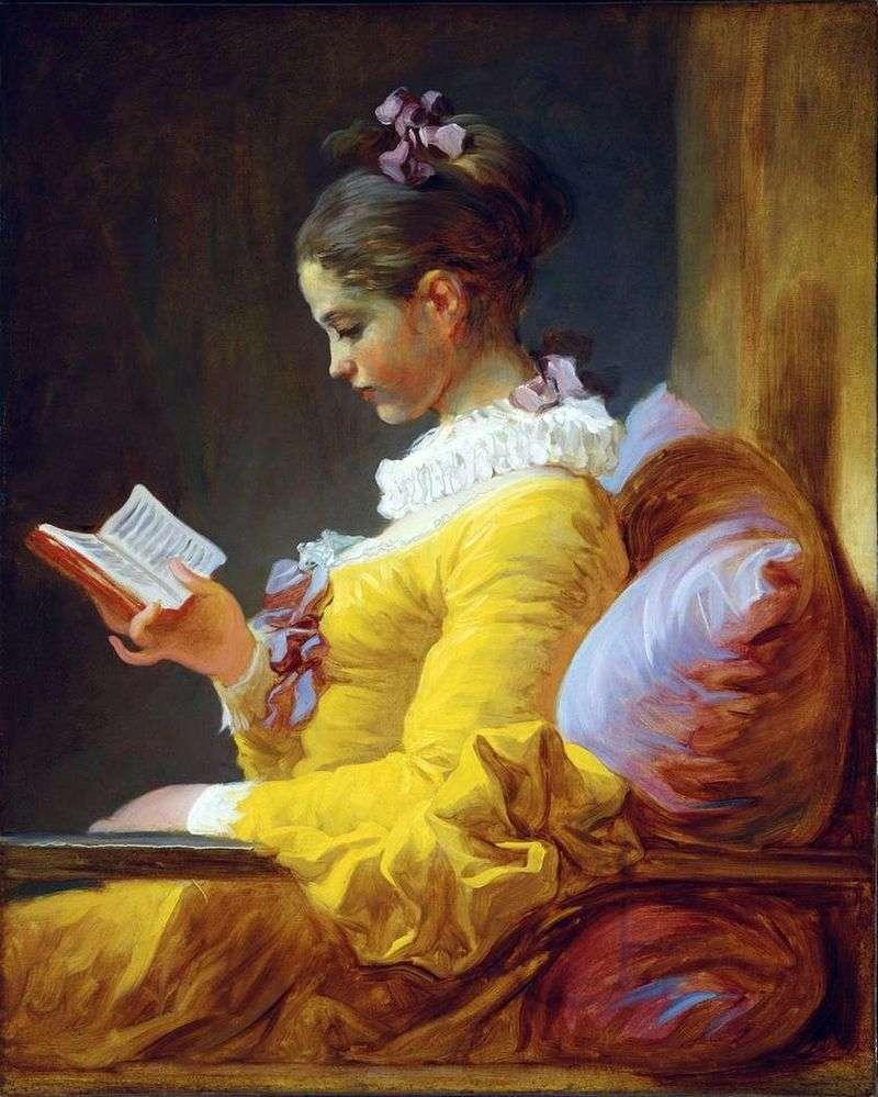 Młody czytelnik   Jean Honore Fragonard