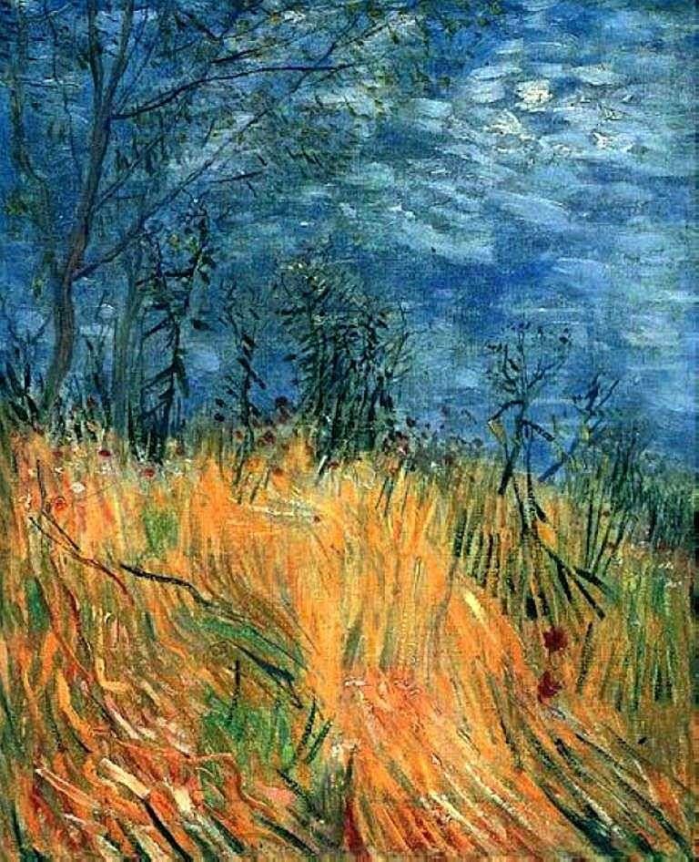 Krawędź pola pszenicy z makami   Vincent Van Gogh