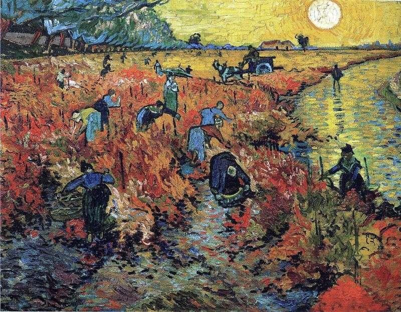 Czerwone winnice w Arles   Vincent Van Gogh