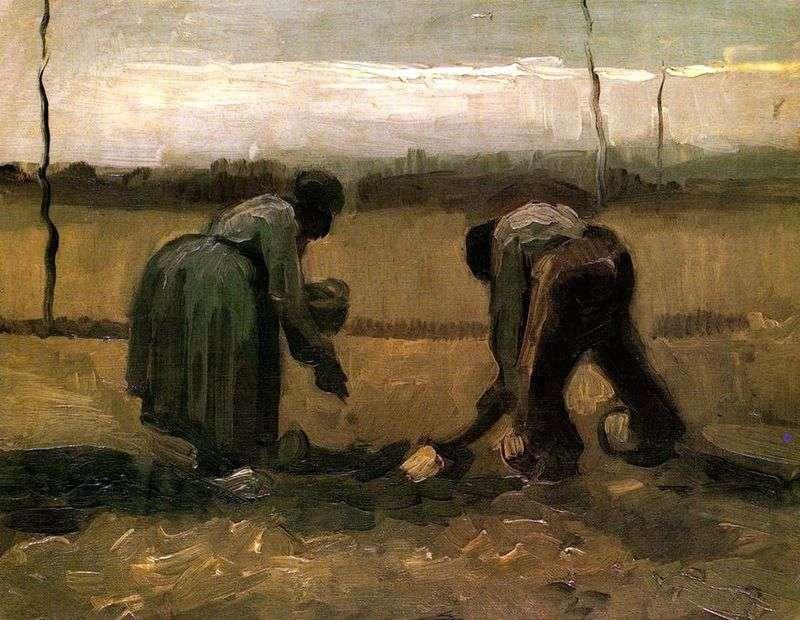Sadzenie ziemniaków i chłopów   Vincent van Gogh