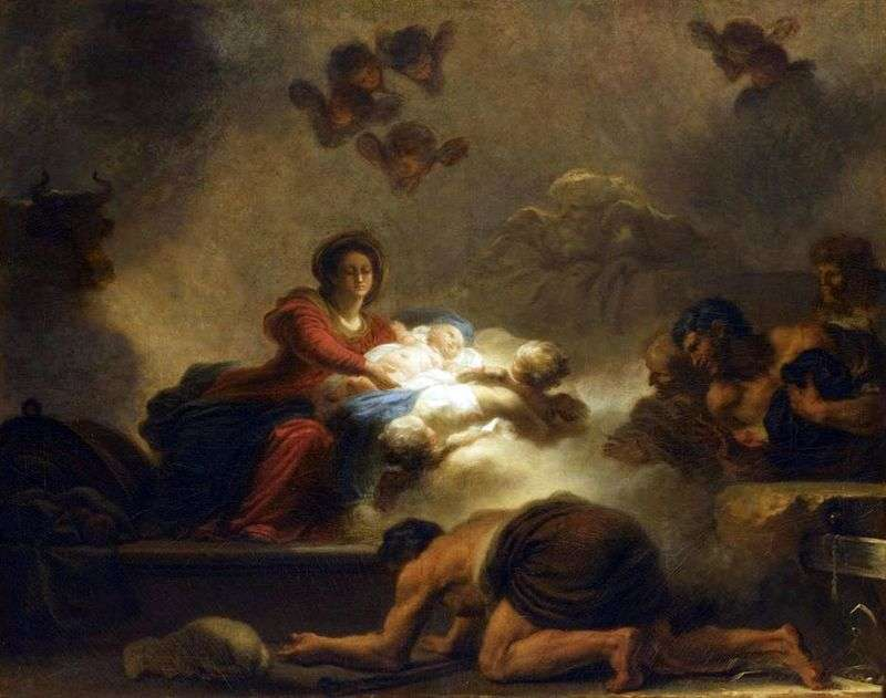 Adoracja pasterzy   Jean Honore Fragonard