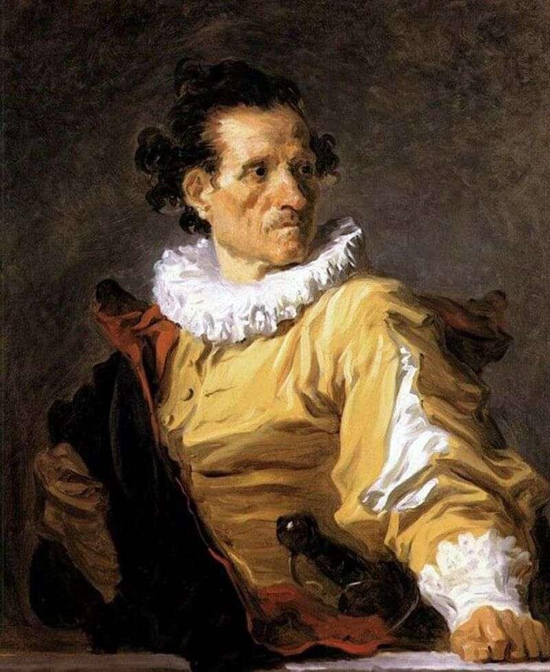 Portret wojownika   Jean Honore Fragonard