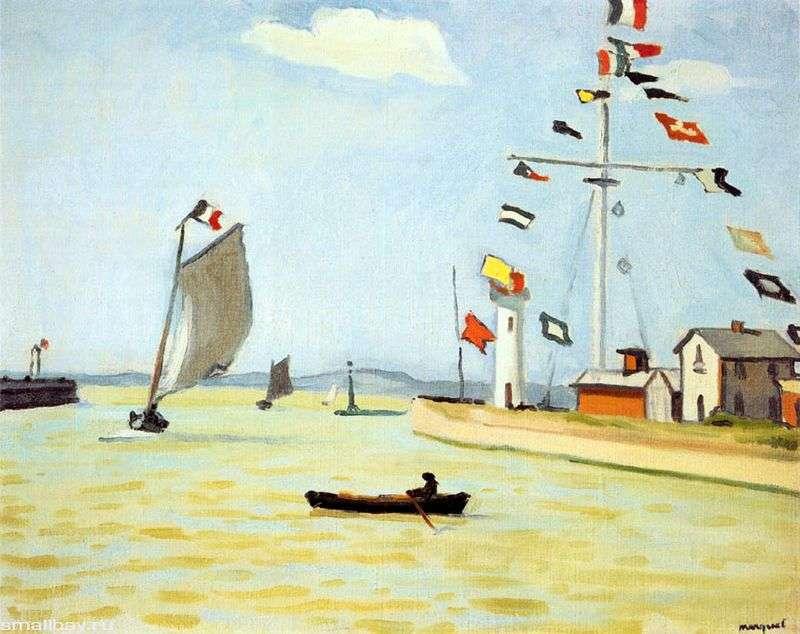 Port w Honfleur   Albert Marche