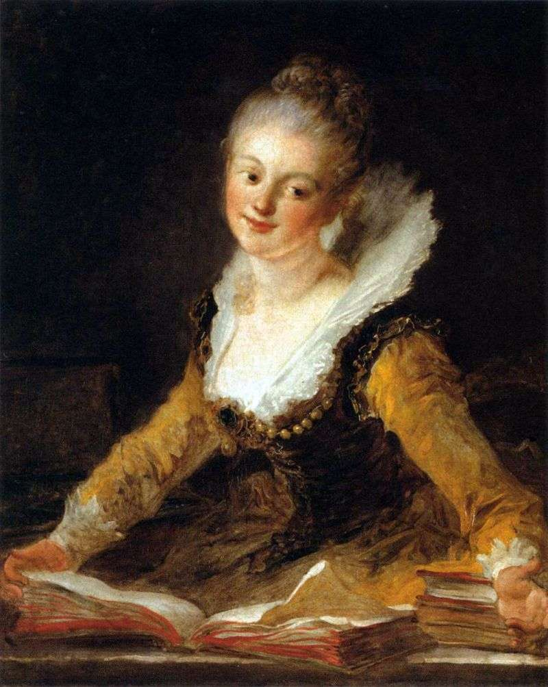 Portret damy jako Muse of Science   Jean Honore Fragonard
