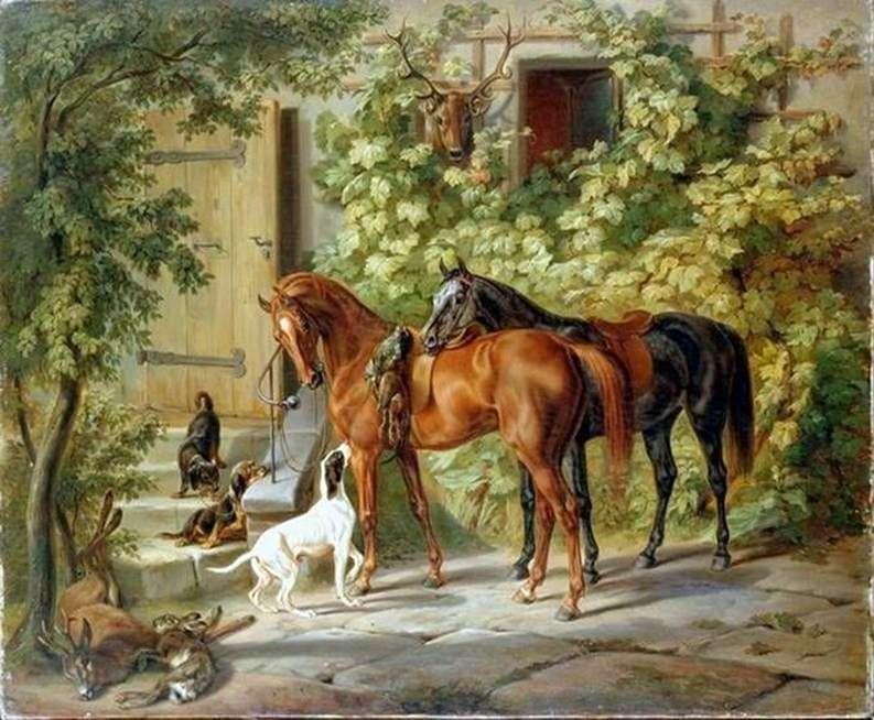 Konie w Porch   Adam Albrecht
