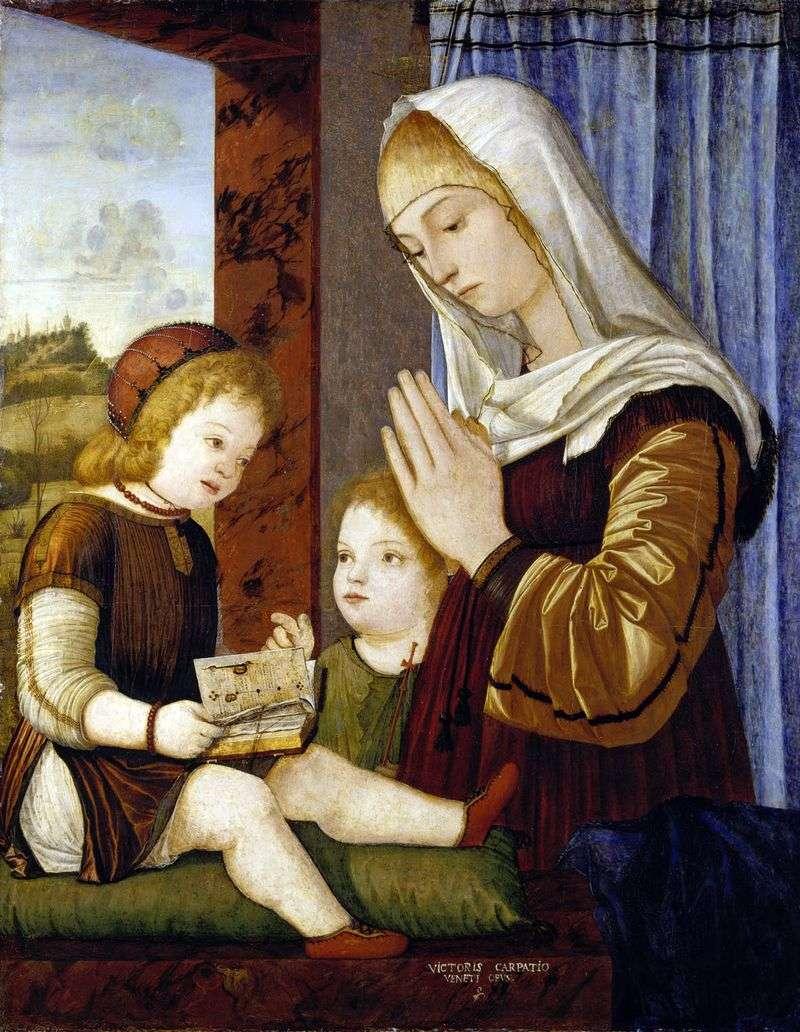 Madonna z Dzieciątkiem z Janem Chrzcicielem   Vittorio Carpaccio