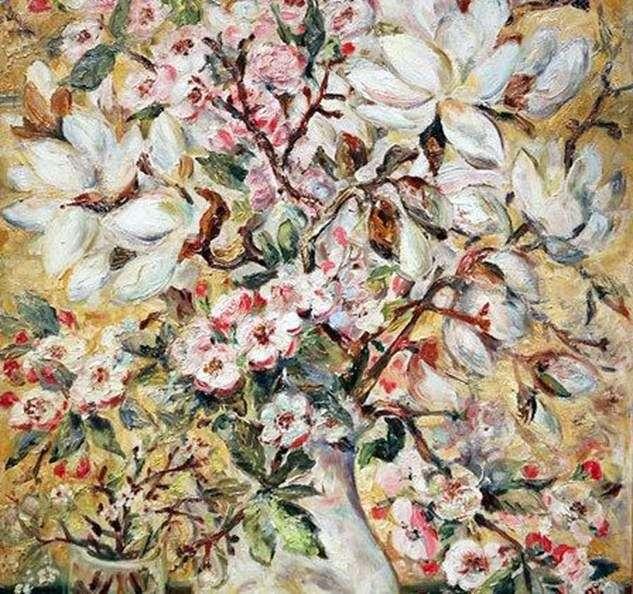 Wazon z kwiatami   Natalya Goncharova