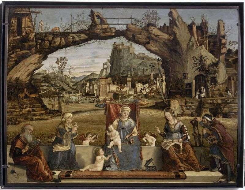 Madonna i dziecko ze świętymi   Vittore Carpaccio