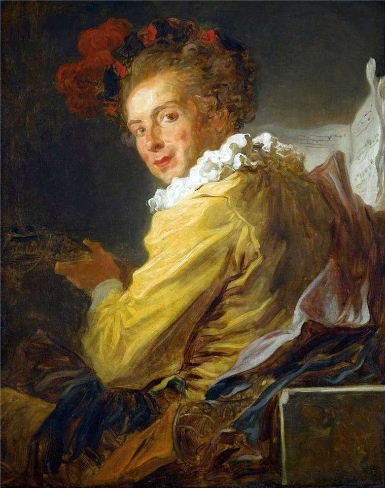 Portret Louisa Richarda de La Brethes   Jean Honore Fragonard