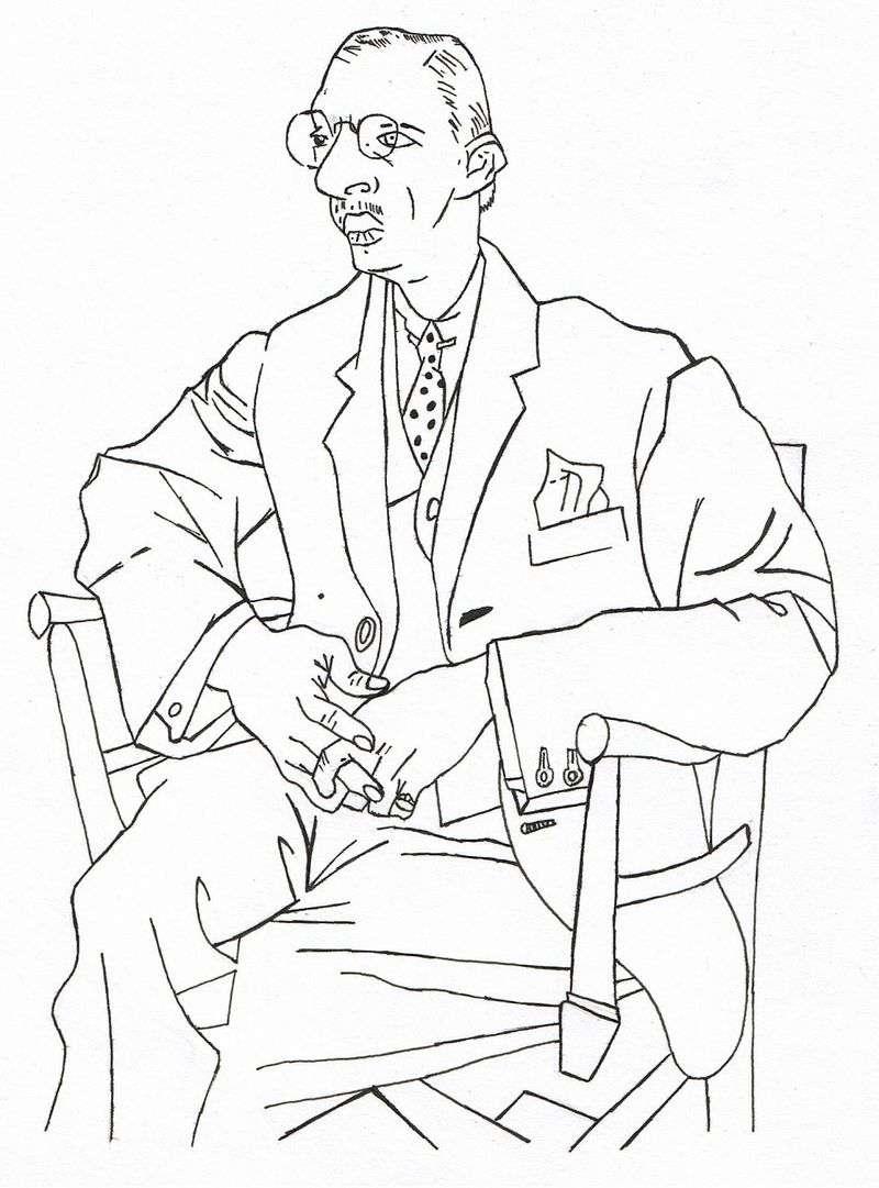 Portret Igor Strawiński   Pablo Picasso