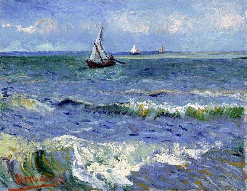 Łodzie na morzu   Vincent Van Gogh
