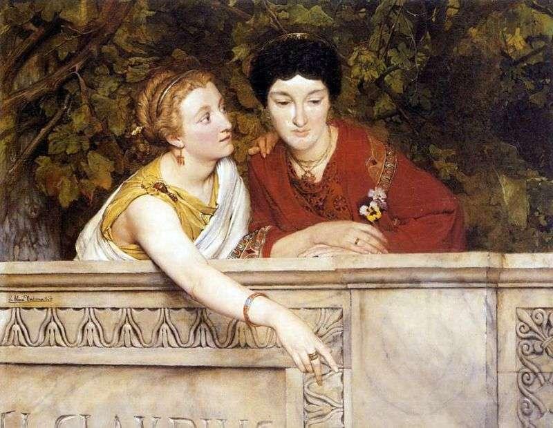 Kobiety galijsko romańskie   Lawrence Alma Tadema