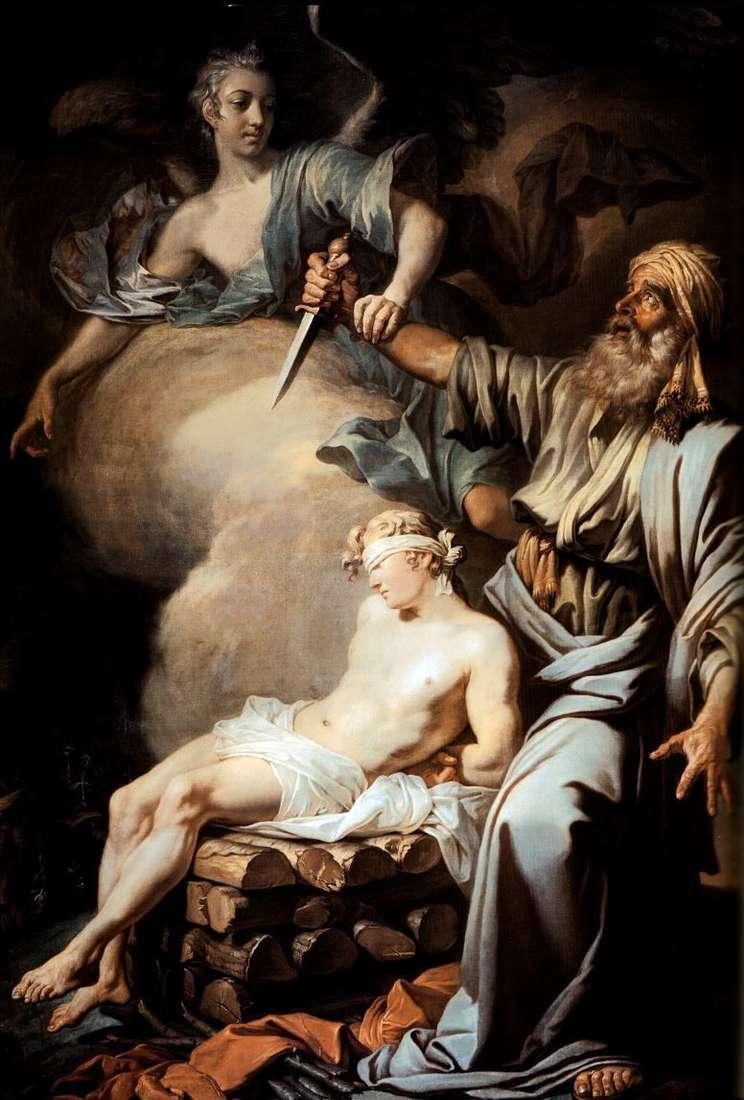 Abraham poświęca swego syna Izaaka (Ofiarę Abrahama)   Antona Losenki