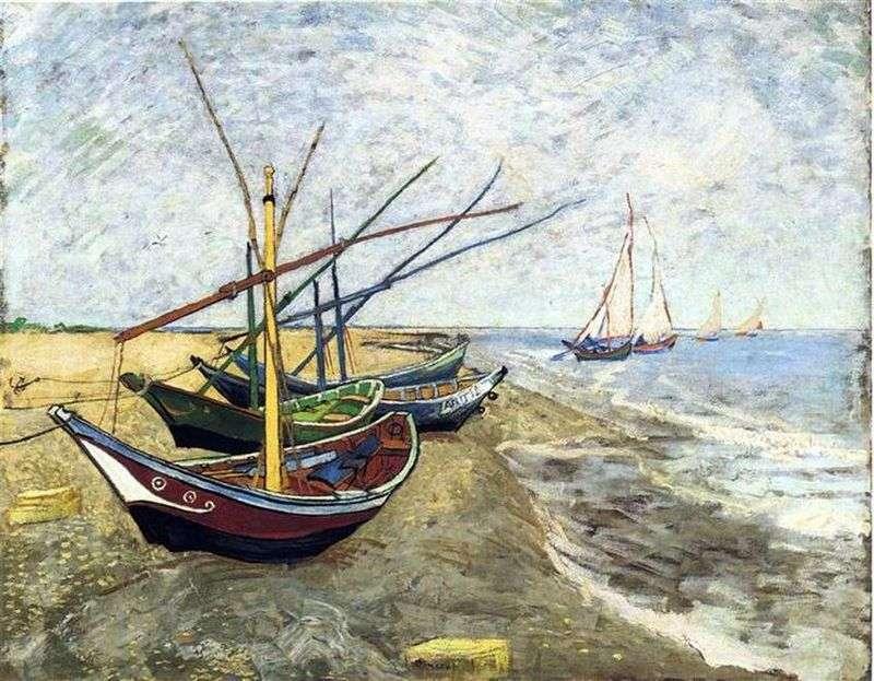 Łodzie w Saint Marie   Vincent Van Gogh