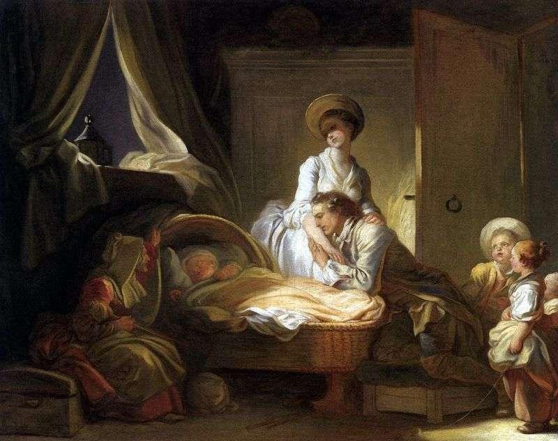 Wizyta dzieci w pokoju   Jean Honore Fragonard