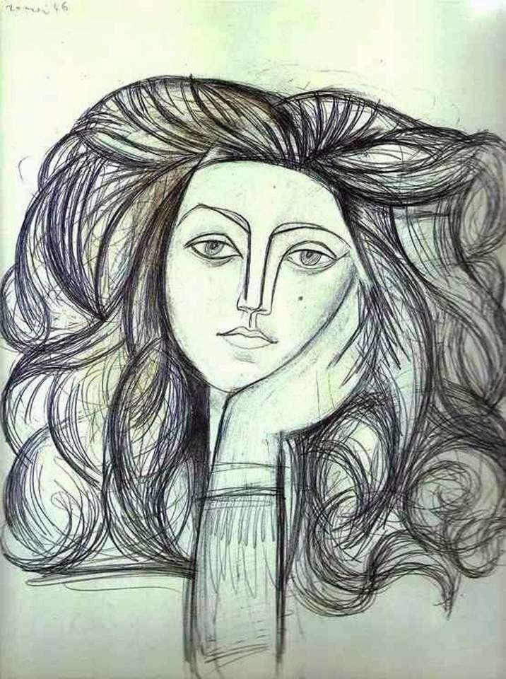 Portret Francoise   Pablo Picasso