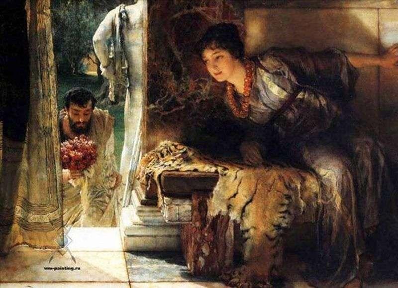 Długo oczekiwane kroki   Lawrence Alma Tadema