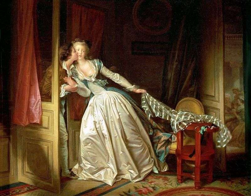 Futrzany pocałunek   Jean Honore Fragonard