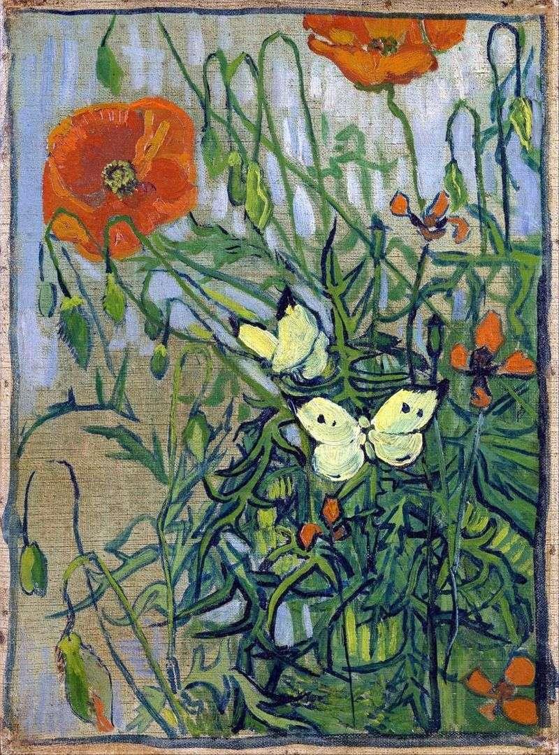 Maki i motyle   Vincent Van Gogh