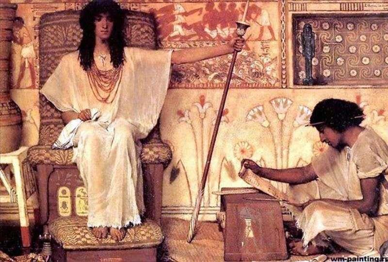 Józef   strażnik spichrzów faraona   Lawrence Alma Tadema