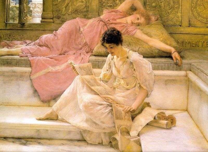 Ulubiony poeta   Lawrence Alma Tadema