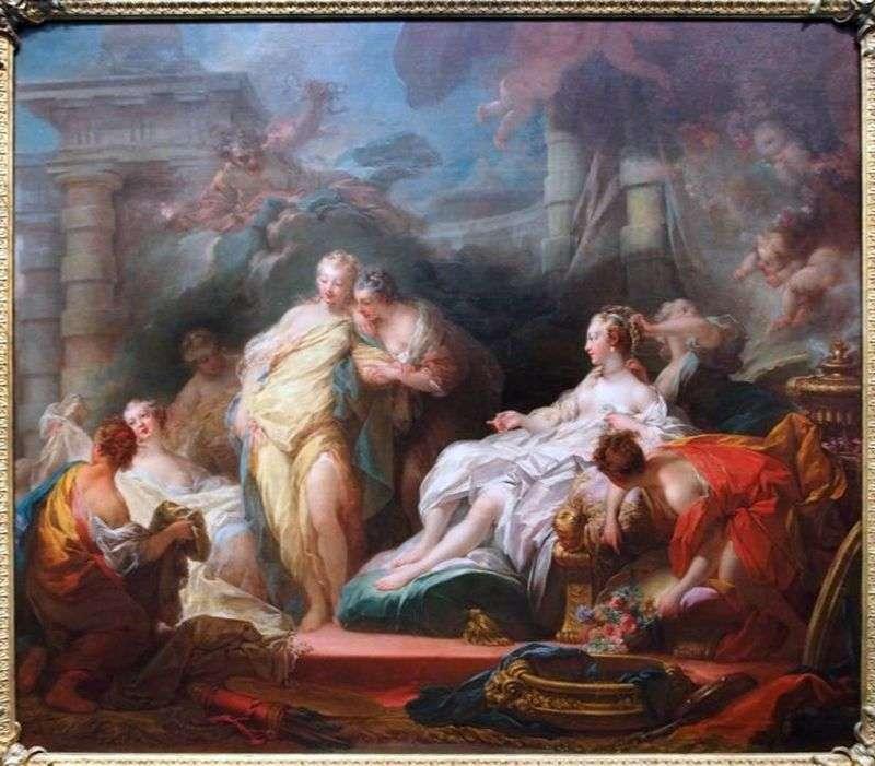 Psyche pokazuje swoim siostrom prezenty Kupidyna   Jean Honore Fragonard