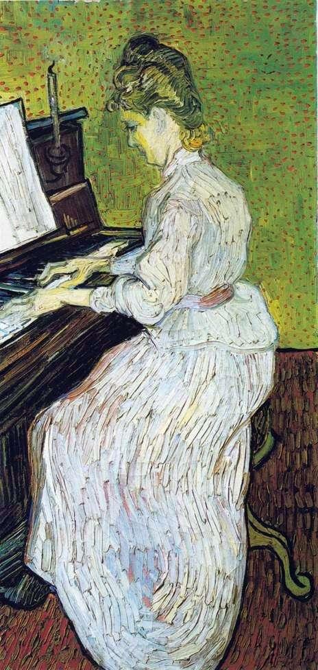 Margarita Gachet przy fortepianie   Vincent Van Gogh