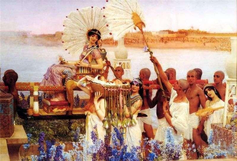 Znalezienie Mojżesza   Lawrence Alma Tadema