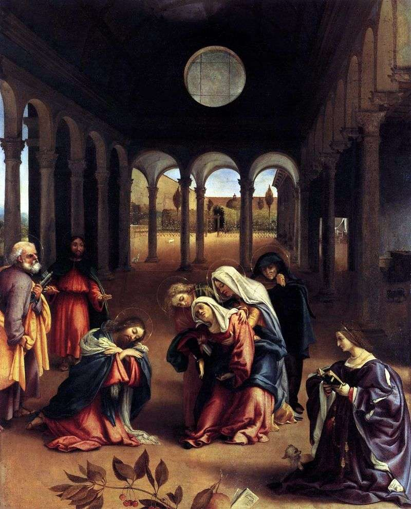 Zdobycie Chrystusa z Matką   Lorenzo Lotto