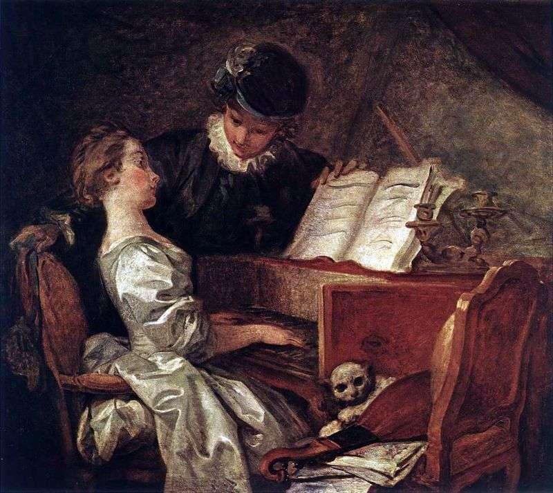 Lekcja muzyki   Jean Honore Fragonard