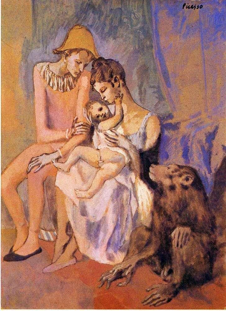 Rodzina akrobata z małpą   Pablo Picasso