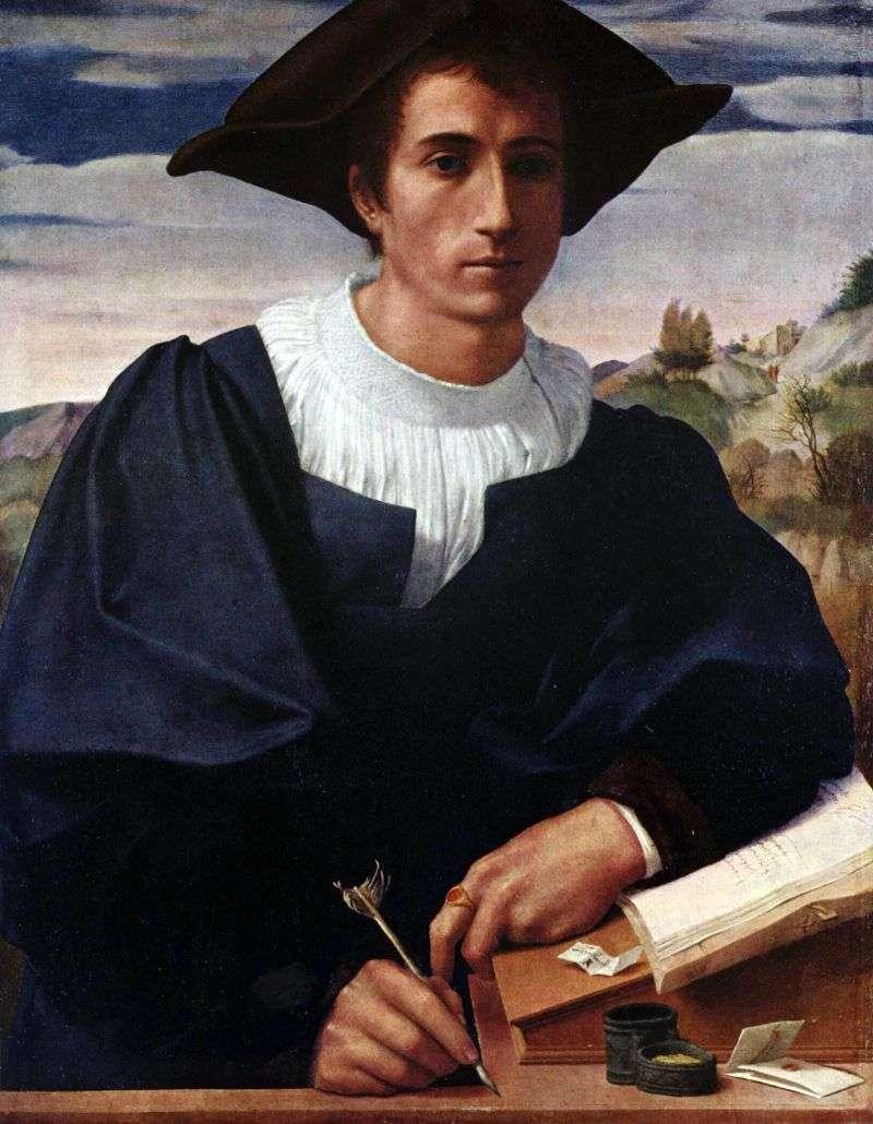 Młody człowiek przy biurku   Francesco di Cristofano Franciabigio