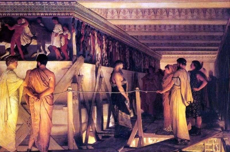 Phidias pokazuje fryz Parthenon swoim przyjaciołom   Lawrence Alma Tadema