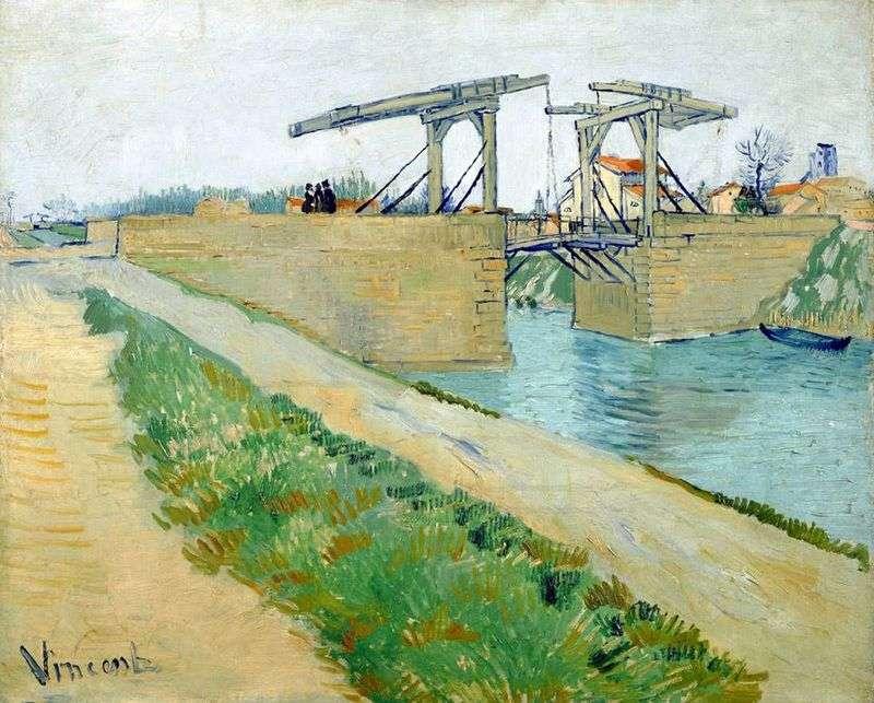 Most Langlois w Arles i droga wzdłuż kanału   Vincent Van Gogh