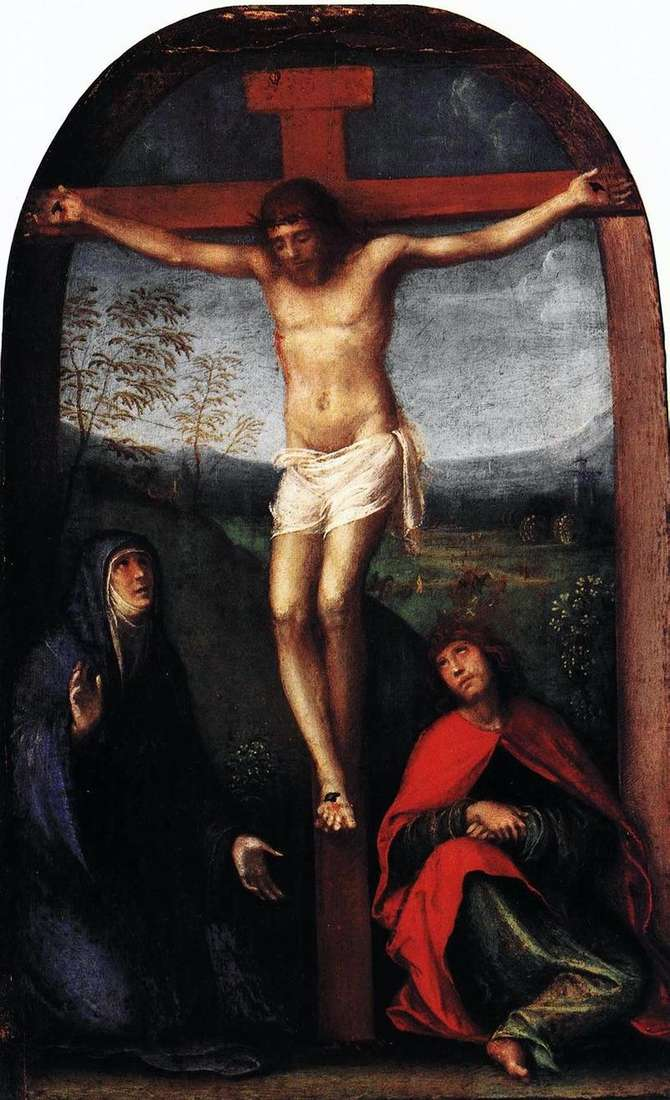 Ukrzyżowany Chrystus z Maryją i św. Janem Ewangelistą   Francesco Franche