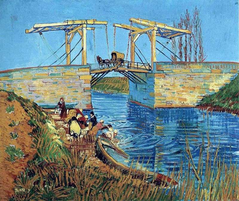 Langlois Bridge w Arles and Erasing Women   Vincent van Gogh