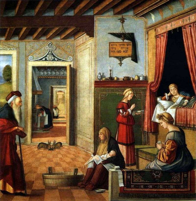 Narodziny Marii Panny   Vittore Carpaccio