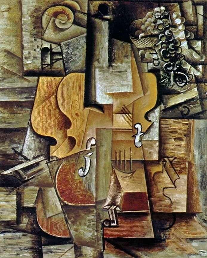 Skrzypce i winogrona   Pablo Picasso
