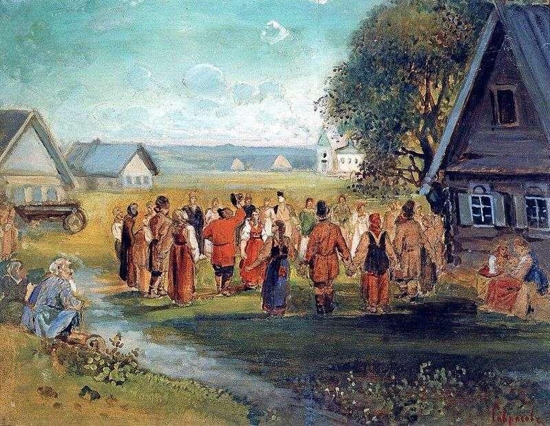 Okrągły taniec we wsi   Aleksiej Sawrasow
