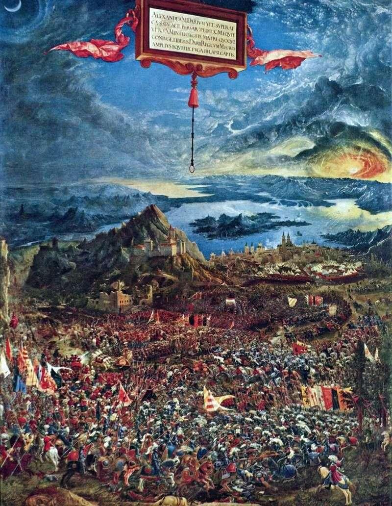 Bitwa pod Issusem Bitwa pod Aleksandrem i Persami   Albrecht Altdorfer