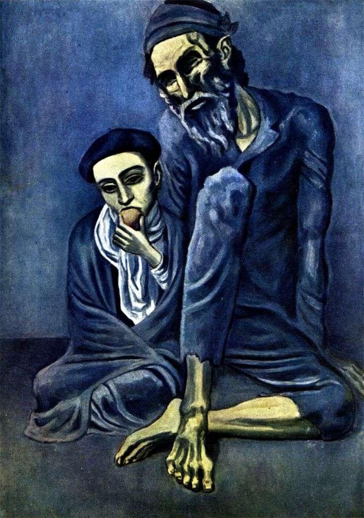 Ślepy żebrak z chłopcem   Pablo Picasso