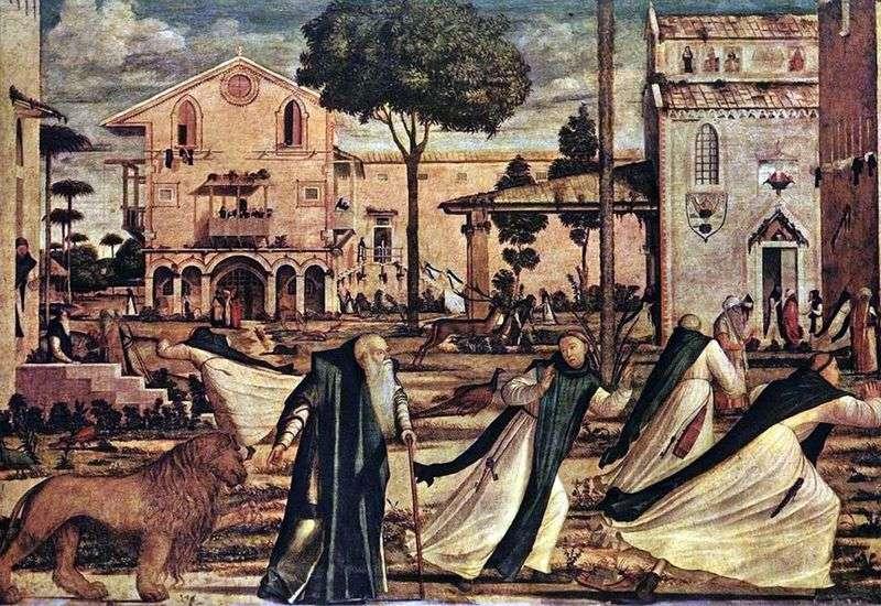 Święty Hieronim prowadzi lwa do klasztoru   Vittorio Carpaccio